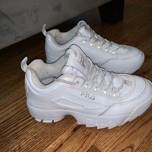 Fila Disruptor 2 Premium Mono White Sneakers